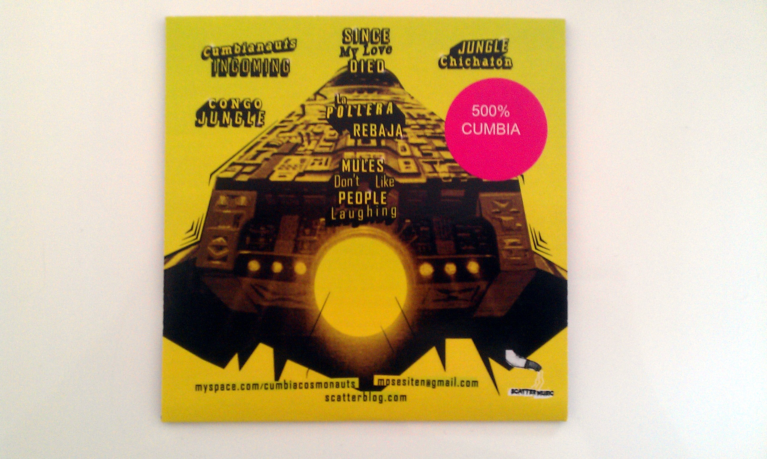 Cumbia Cosmonauts CD - Back