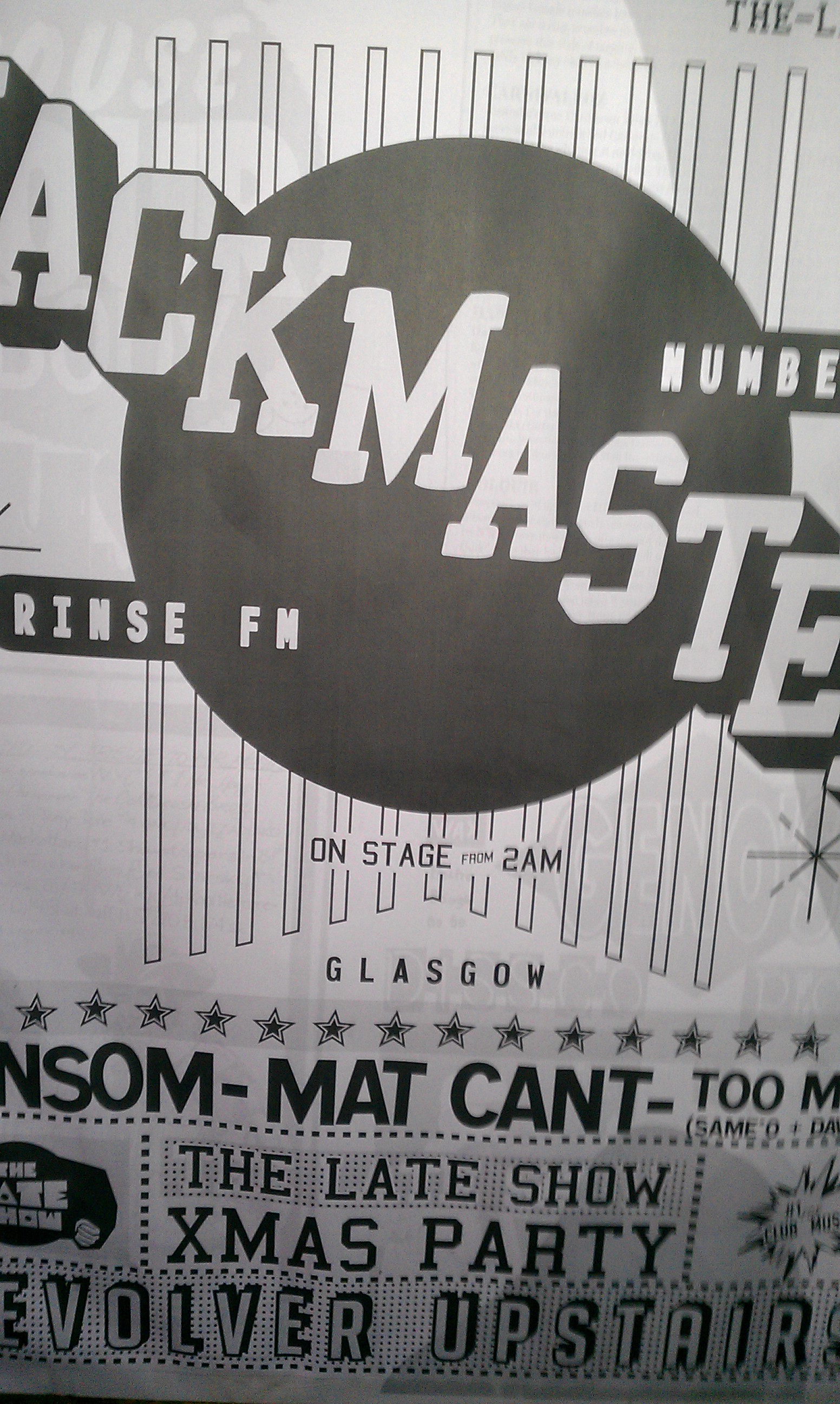 Jackmaster - BnW - Poster