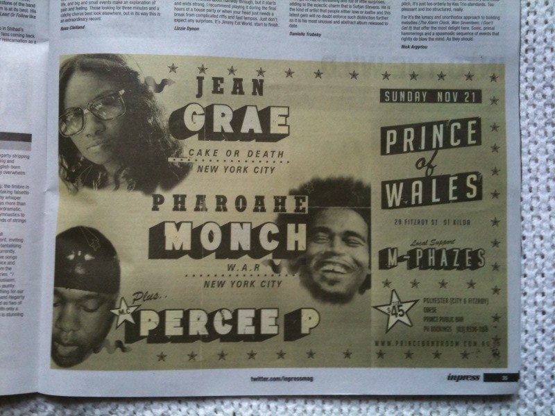 Jean Grae - Pharoahe Monch - Percee P - Poster