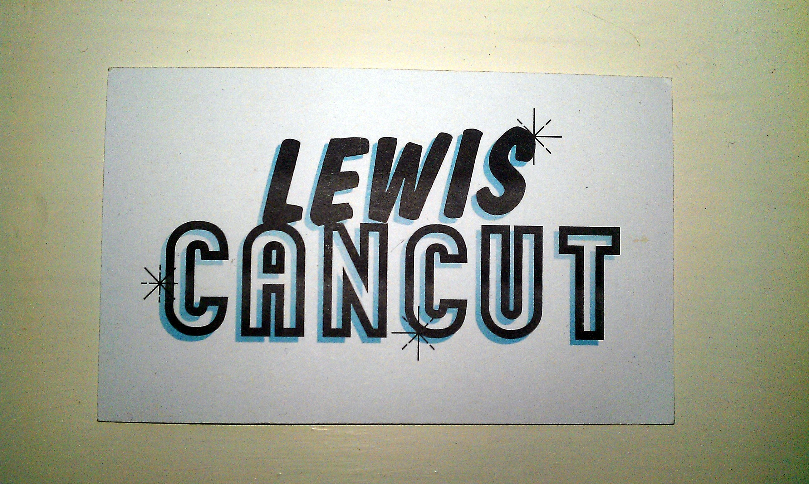 Lewis CanCut - Business Card - Front 1