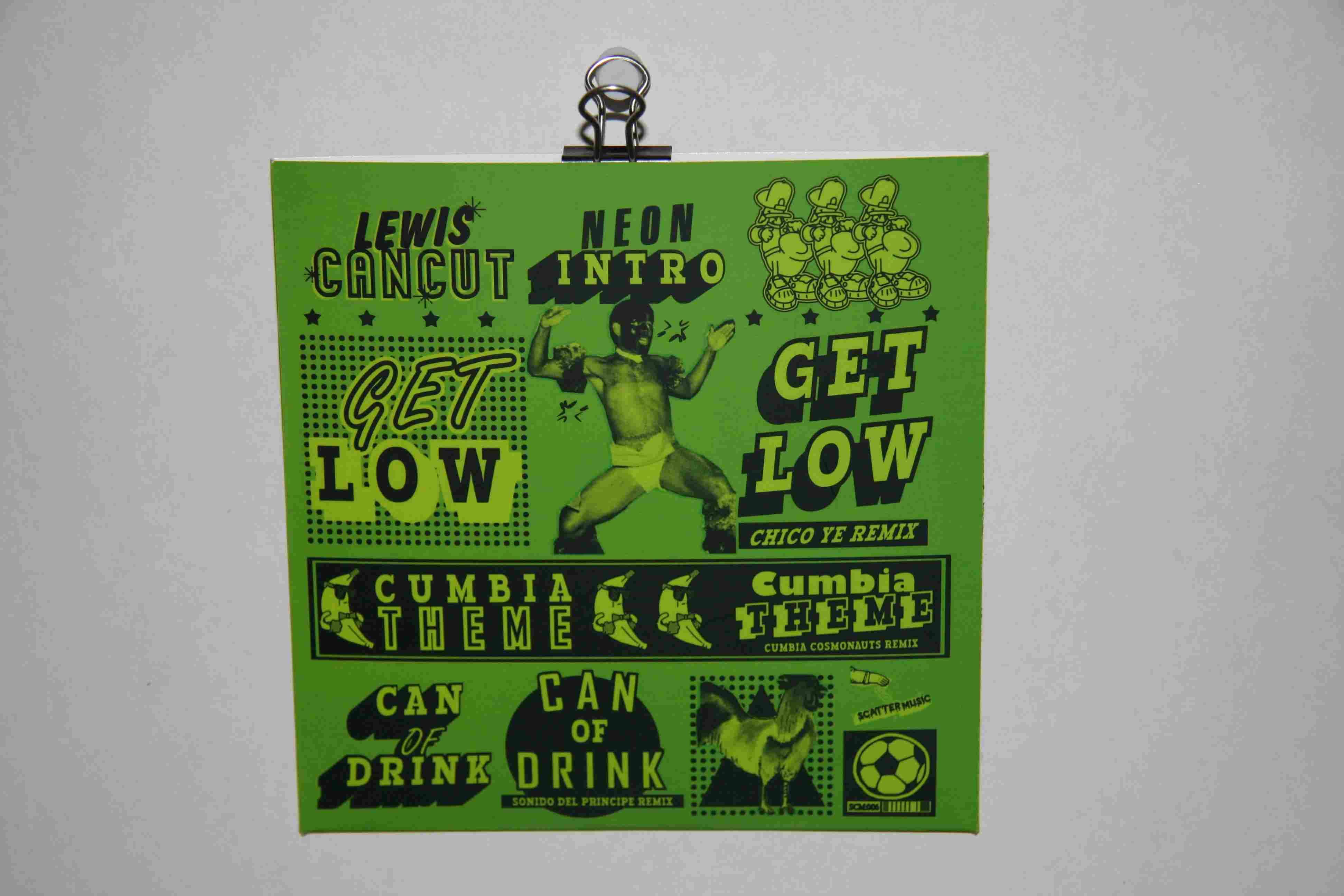 Lewis CanCut - Neon Saxophone - CD Back