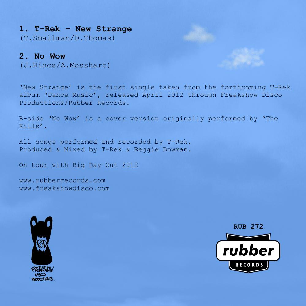 T-Rek - New Strange - Promo Cd - Paper Back