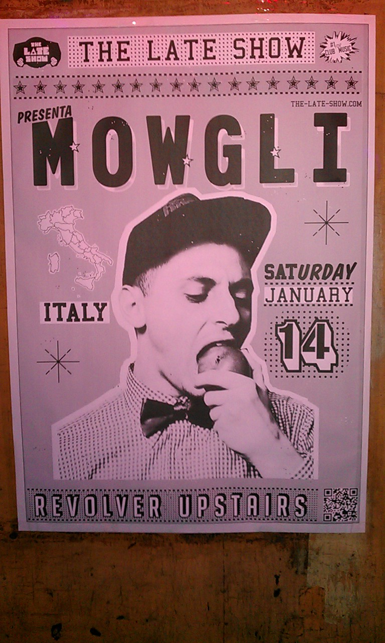 TLS - Mowgli - January 14th - 2012 - Revolver Upstairs - Poster