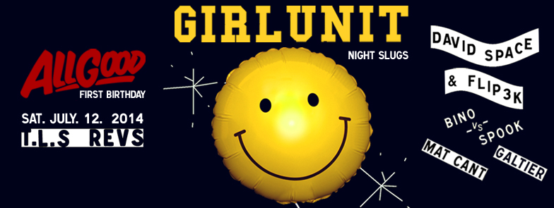 GIRL UNIT - ALL GOOD - FIRST BDAY - FB EVENT BANNER