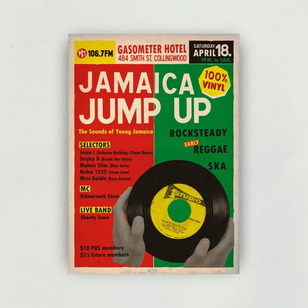 JAMAICA JUMP-UP - The Sounds of Young Jamaica - Poster on White