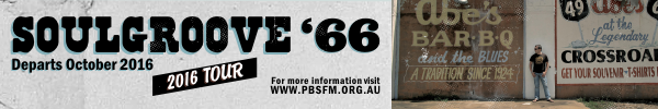 Soulgroove 66 - 2016 Tour - PBS Magazine - 600W x 100H - Web Banner