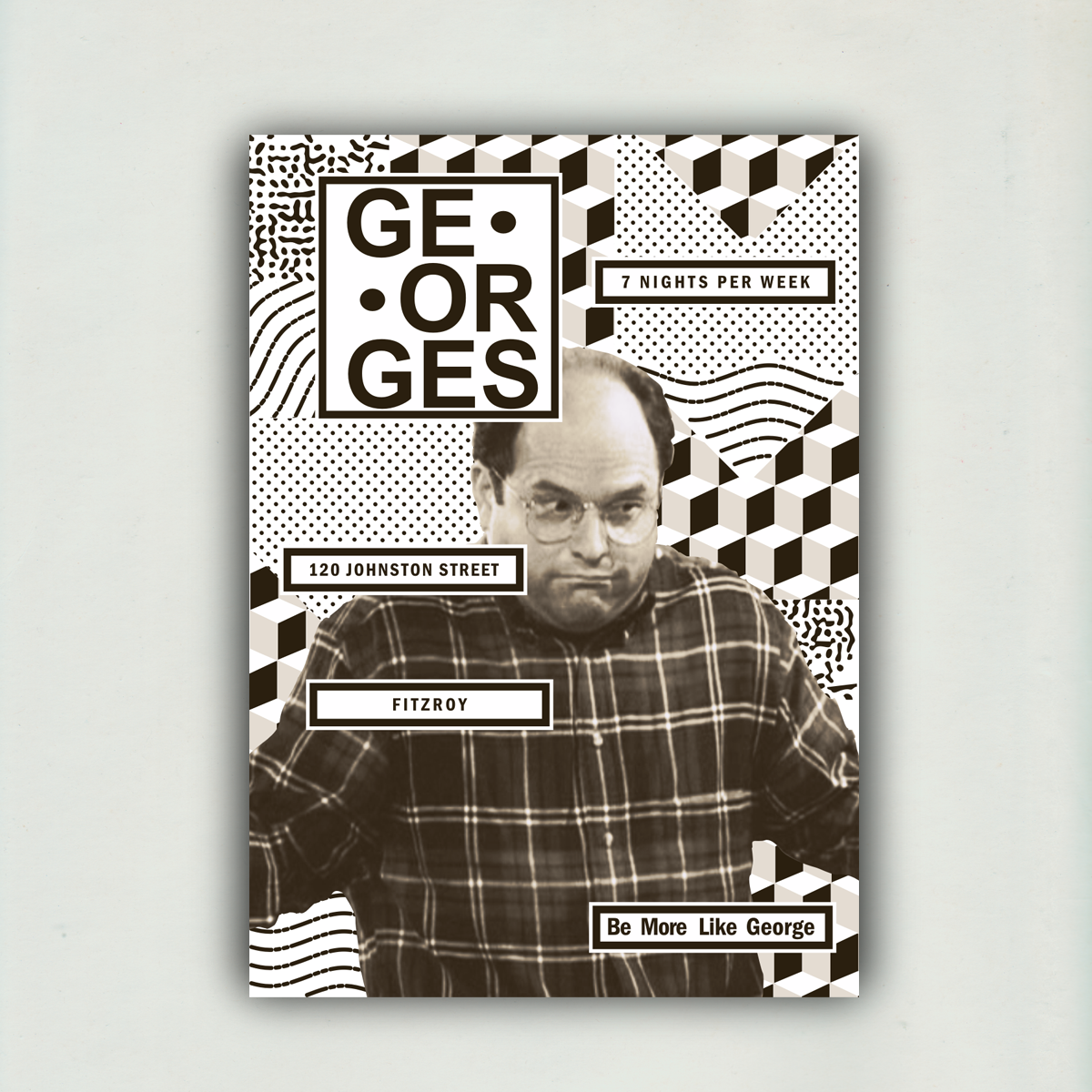 Georges Bar - A0 Poster - BNW - Upload 2