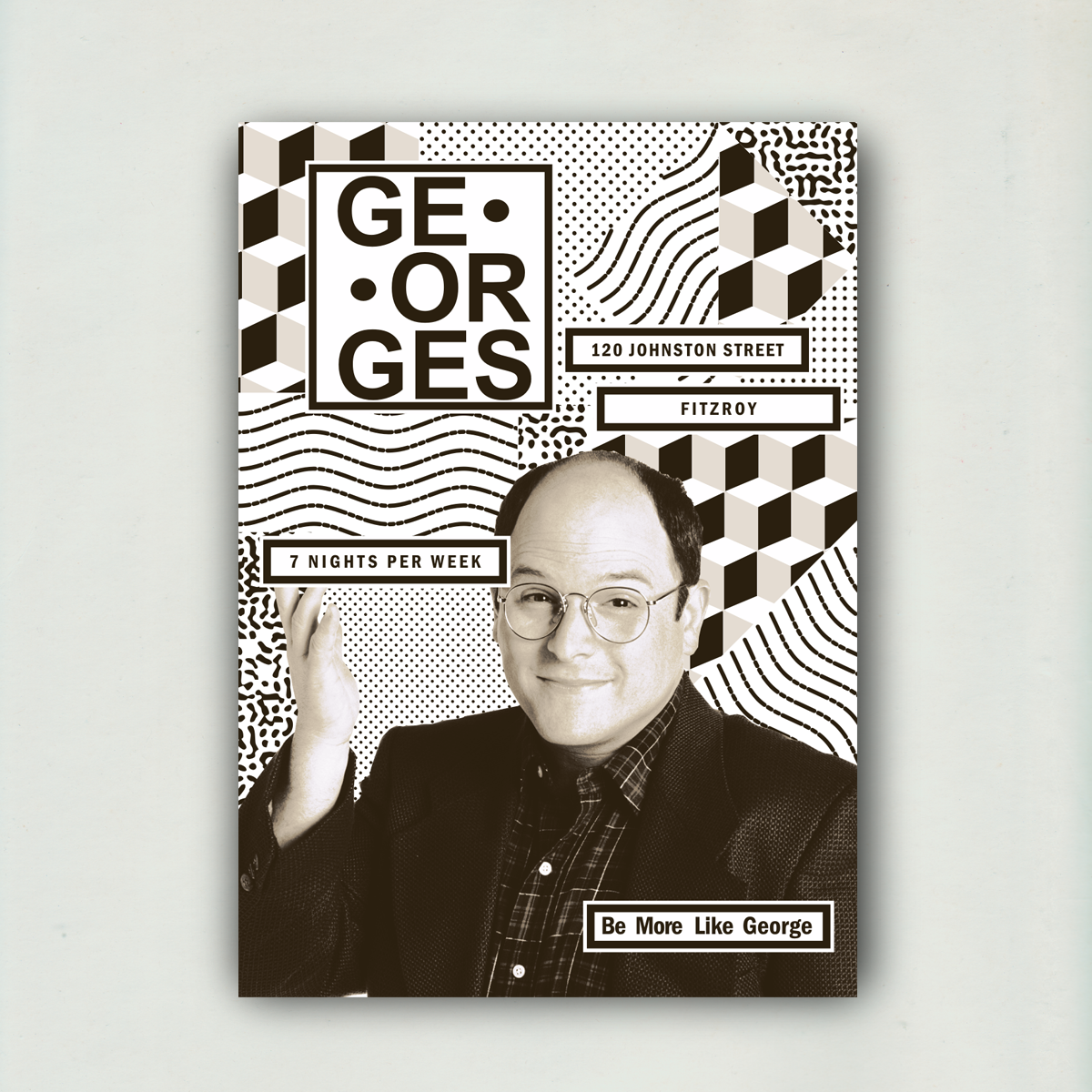 Georges Bar - A0 Poster - BNW - Upload 3